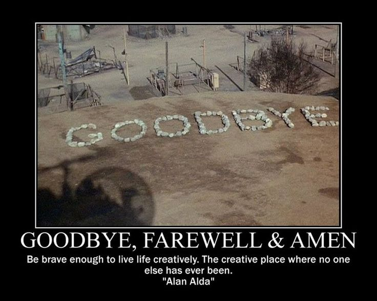 goodbye scene from mash | Goodbye, Farewell And Amen by nightwolfgraphics