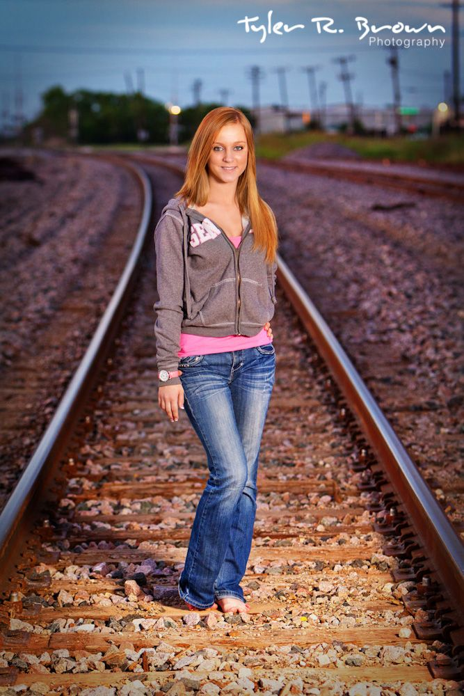 Emily Rhodes - Centennial High School - Class of 2011 - #seniorportraits - Frisco Square - Train Tracks - Tyler R. Brown Photography
