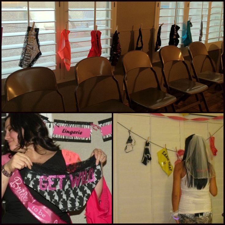 Lingerie shower game- panty guess! Ask each guest to bring a pair ...