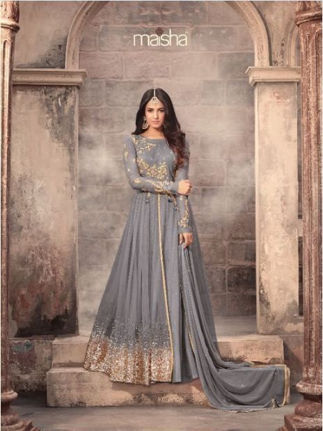 cb2ce822c0 Indian Bollywood wedding Style Designer party wear Anarkali Suit  ZOYA-22002-2104-C Hit Designe Light Green Bridal Net With Embroidery work  With Stone Salwar ...
