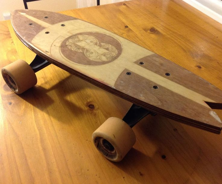 """This is how to laser cut your own mini-longboard out of wood! Materials: 1. 1/8th inch wood, 2 pieces of 18x24""""2. Fiberglass cloth/epoxy resin3. Longboard trucks and wheels  #laser #longboard"""