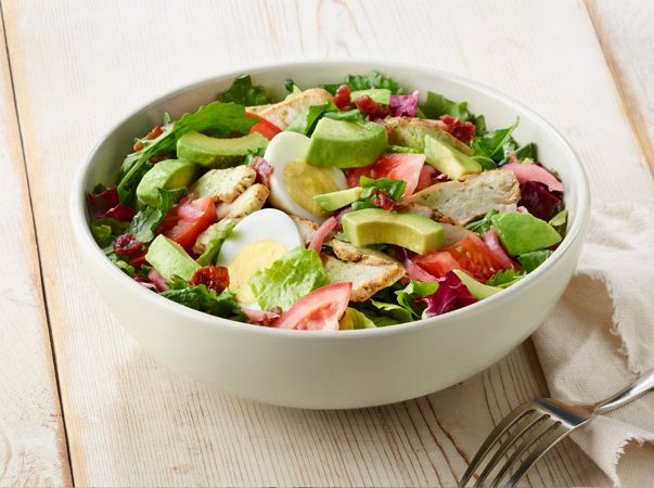 Green Goddess Cobb salad with dressing at home. Courtesy of Panera Bread themselves ♥