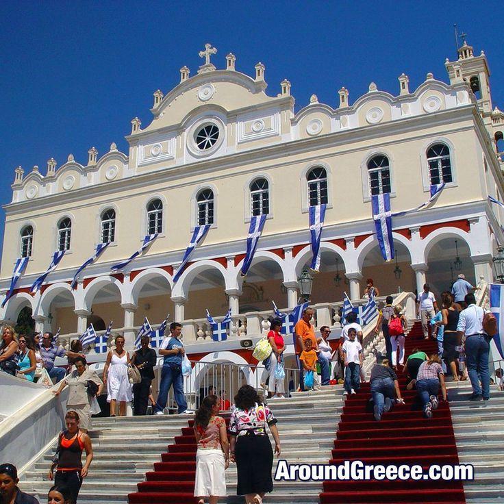 The church of Panagia Evangelistria on the island of Tinos  #Tinos #Greece #Greekislands #Cyclades #church #Panagia #holidays #travel #tourism #vacations #cycladesislands #Τηνος #Ελλαδα #ΕλλνηικαΝησια #διακοπες #ταξιδια