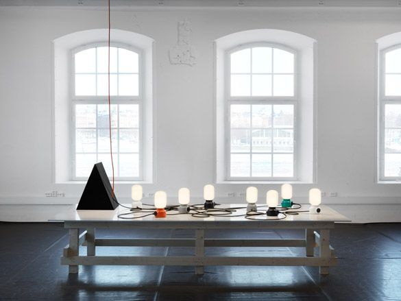 'Plug Lamp' lighting for ateljé Lyktan by Form Us With Love