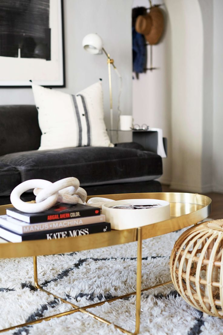 Oval Brass Coffee Table From @zinc