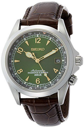 Seiko Men's ' Japanese Automatic Stainless Steel and Leather Casual Watch, Color:Brown (Model: SARB017) Check https://www.carrywatches.com