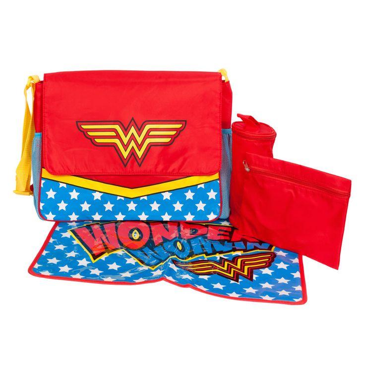 DC Comics Wonder Woman Logo Licensed NWT Caped Diaper Bag #WonderWoman #ShoulderBag
