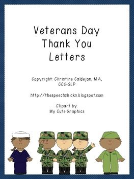 Writing Letters Thanking Veterans Elementary School