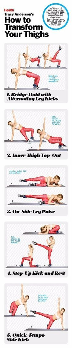 This inner thigh workout from Tracy Anderson will totally transform your legs. | Health.com