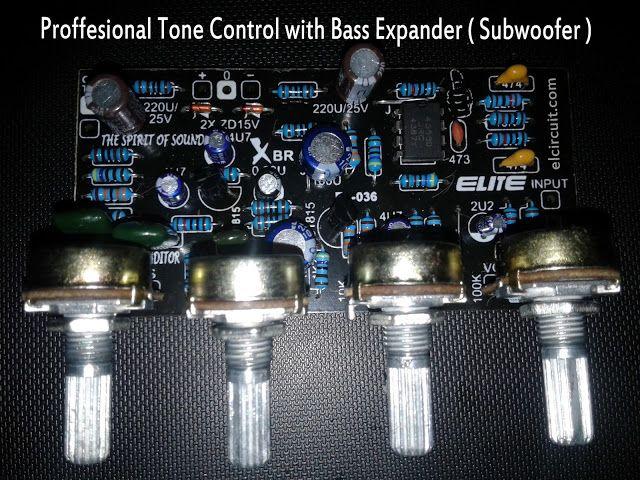 Kit Professional Tone Control Mono Bass Expander