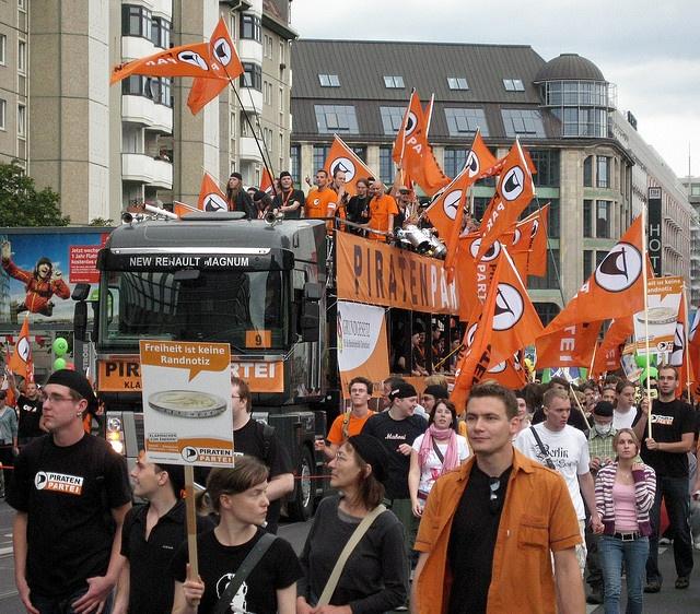 FSA 2009 - Piratentruck by Piratenpartei Deutschland, via Flickr