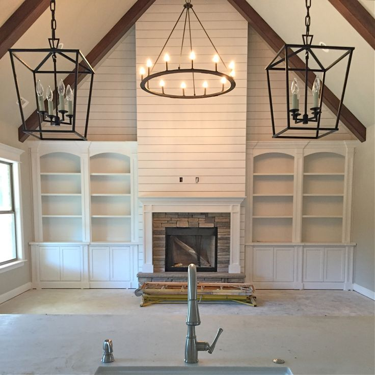 Farmhouse Interior Design Ideas view in gallery add a touch of modernity to the classic farmhouse look Interior Lighting Sources For Our Modern Farmhouse Our Vintage Nest Farmhouse Fireplacefarmhouse Living Roomsfarmhouse