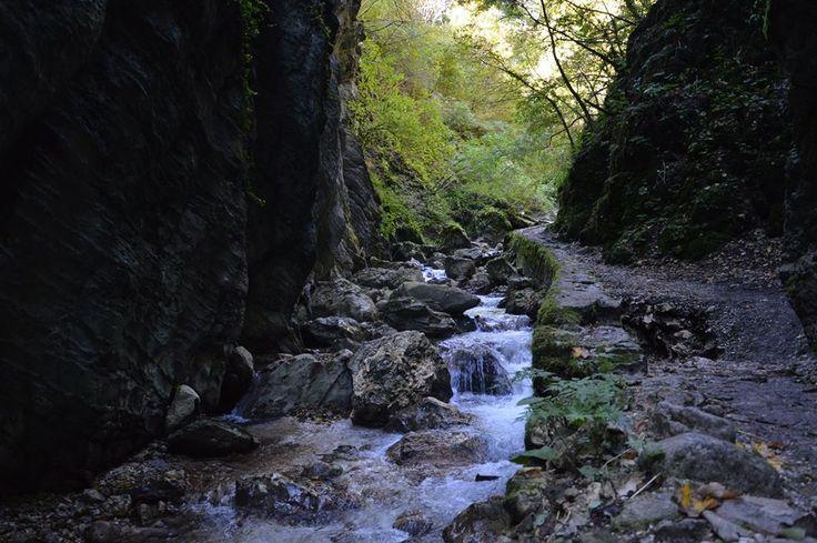 """I giochi d'acqua lungo il sentiero del Golubro, dal latino """"gola scivolosa"""" - gole dell'Infernaccio #montisibillini"""