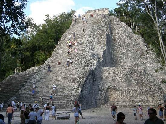 Coba ruins in Quintana Roo March 2007-Hiked when I was five months pregnant!