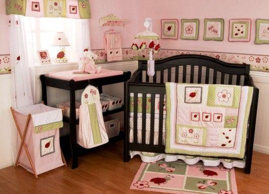 Simple Baby Bedding Design. Baby Girl Nursery ...