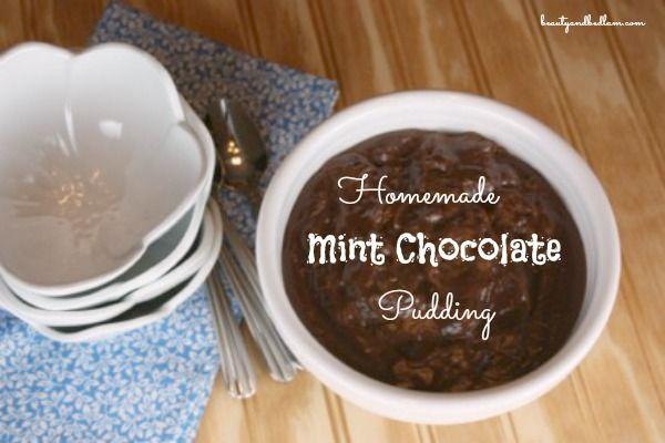 Mint Chocolate Pudding Cakes Recipe — Dishmaps