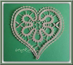 Il chiacchierino e tombolo di Irene: Il cuore e pacchetto