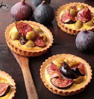 Tartelette aux figues et olives vertes