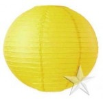Light Yellow (Sunshine) Round Paper Lanterns