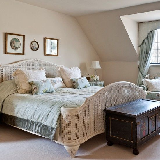 Cream French country bedroom | Country decorating ideas | Country Homes & Interiors | Housetohome.co.uk