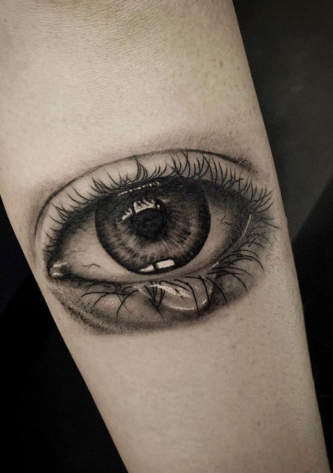 Crying Eye Tattoo : crying, tattoo, Crying, Tattoo, TattManiaTattMania, Eyes,, Tattoo,, Tattoos
