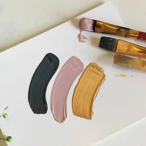 Colour palette - charcoal, dusty rose, indie tan. Source: potdesignsco insta