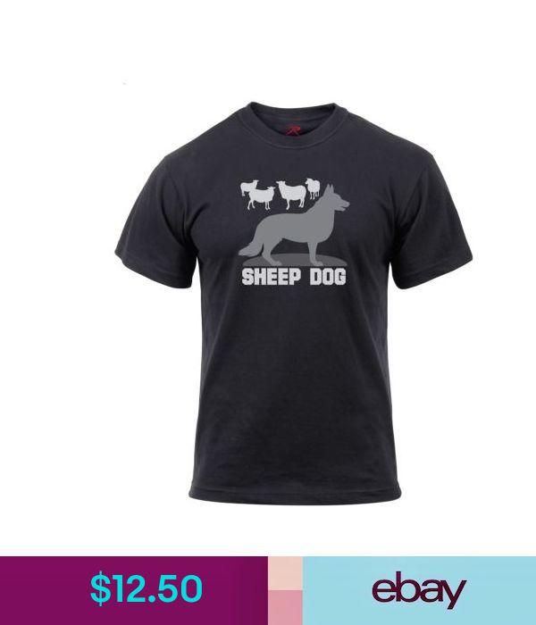 Men/'s Black T-Shirt Military Sheep Dog Rothco 61540
