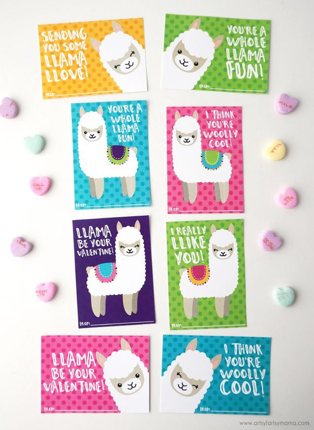 Free Printable Llama Valentines Printable Valentines Cards Valentines Printables Free Valentines Cards