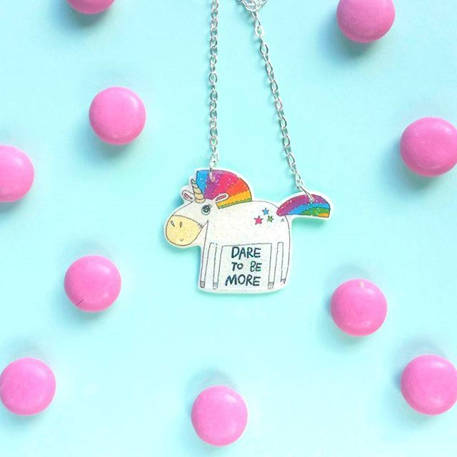Everything is better with unicorns - except you, you are awesome by being just you 🦄  If you need a spirit animal to remind you to dare more, just hit the link in bio & search More - necklace 🔍 #lumiwau #unicornpower