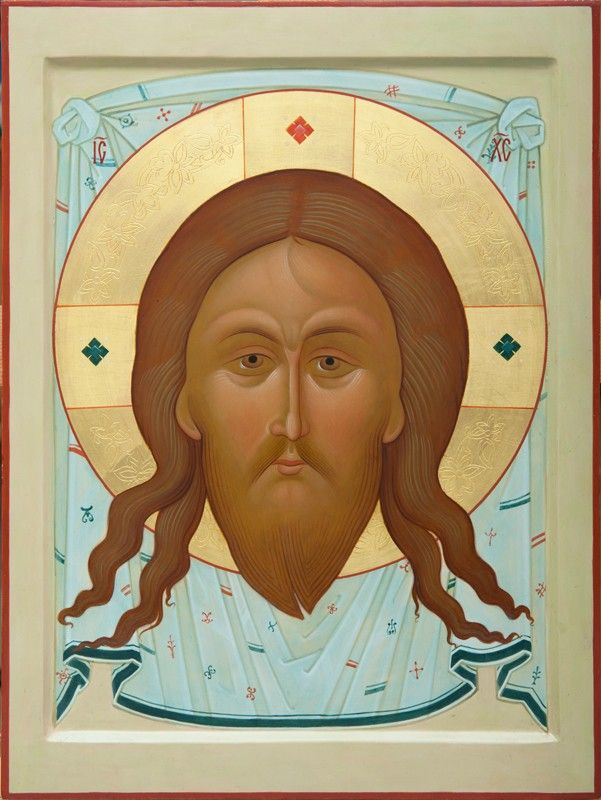 Image of Christ Not-Made-By-Hands - Icons from the Workshop of St. Elisabeth Convent - Handmade - Hand-Painted - Visit our website for more information: http://catalog.obitel-minsk.com/icon-painting -  #CatalogOfGoodDeeds #Orthodox #Eastern #Church #Orthodoxy, #Miracle, #Blessed #Faith #Holy #Jesus #Christ #Savior