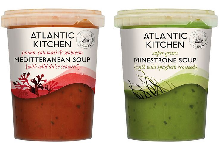 Atlantic Kitchen soup packaging.