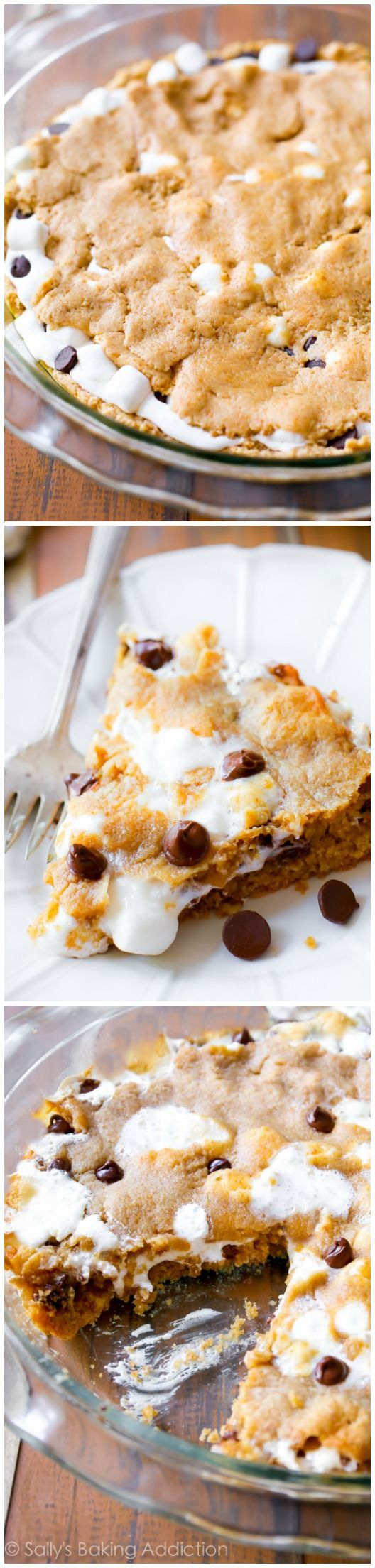 The best way to eat a s'more! When it's baked into a giant cookie cake.