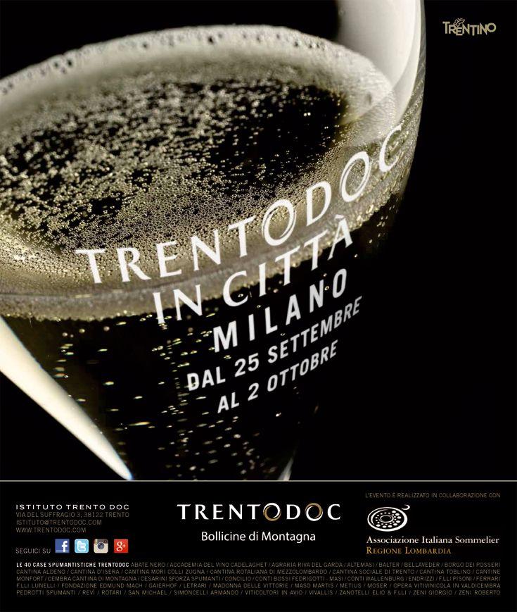 #Trentodoc in città, #evento promosso dall'Istituto Trento Doc in collaborazione con le singole case produttrici di #vinispumanti  #metodoclassico http://www.orientamentoalvino.com/3152-trentodoc-in-citta-milano