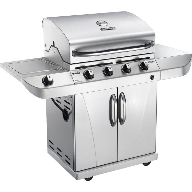 Outdoor Gas Grill 4 Burners Stainless Steel With Side Burner Propane Easy Clean #GasGrill4Burners