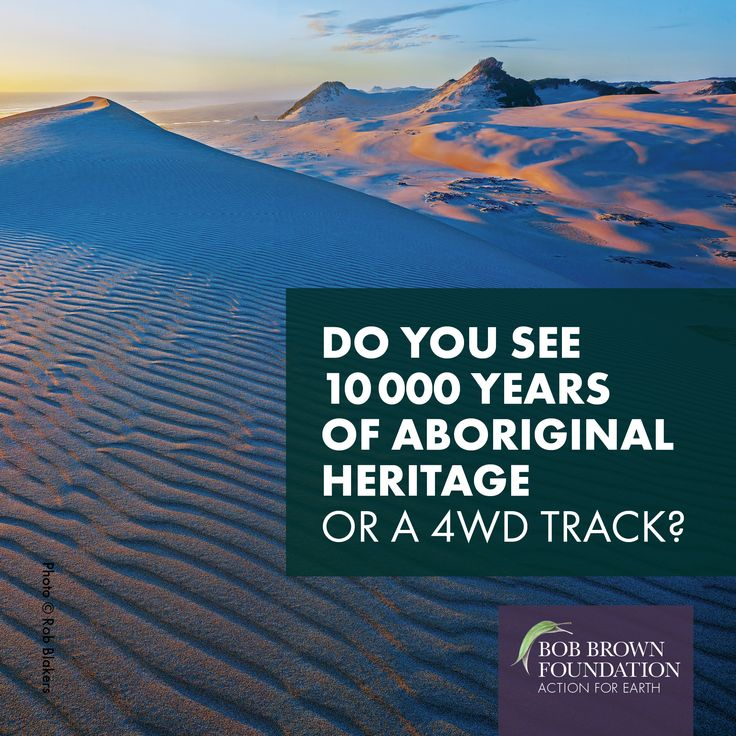 Send a submission now: http://www.bobbrown.org.au/no_vehicles_on_aboriginal_heritage