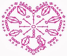 .Häkeln Motiv Herz / Crochet Motif Heart