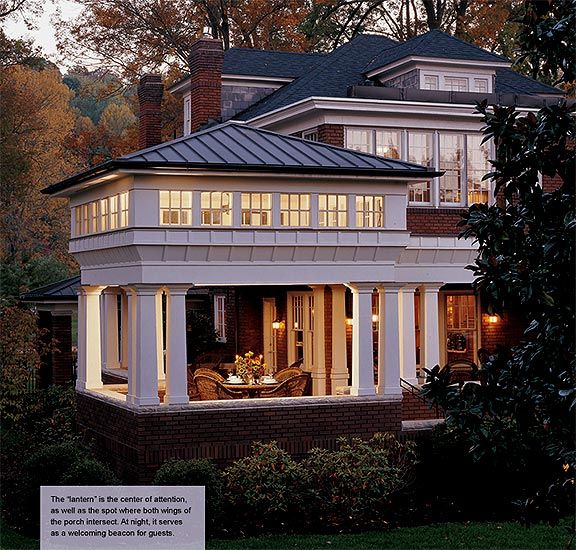 Wrap around porch with a Lantern / Crisp Architects