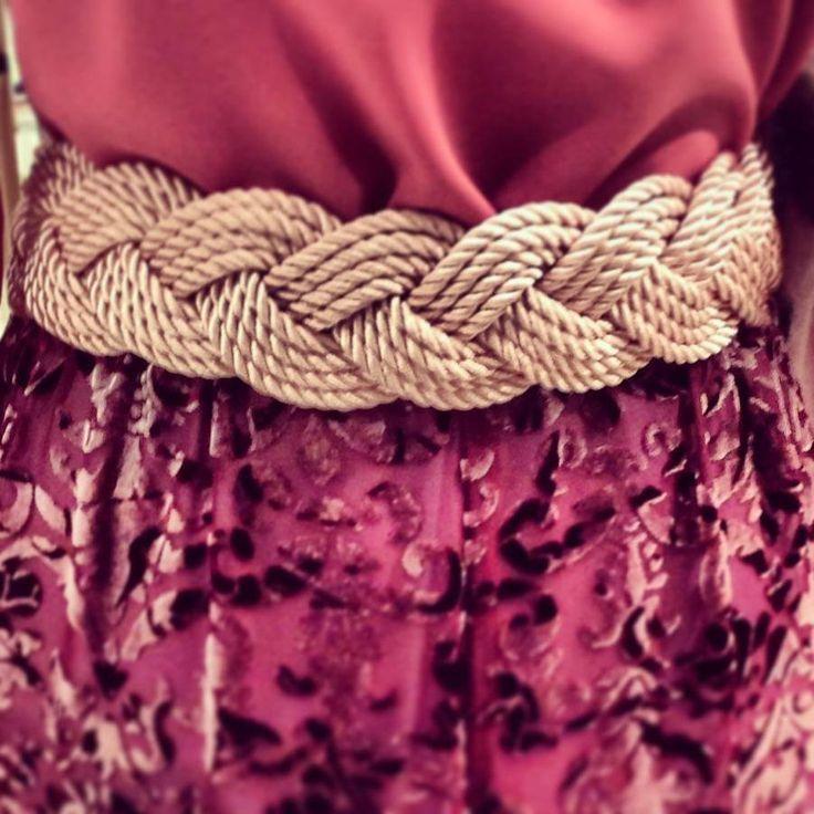 Cinturón de cordón de seda