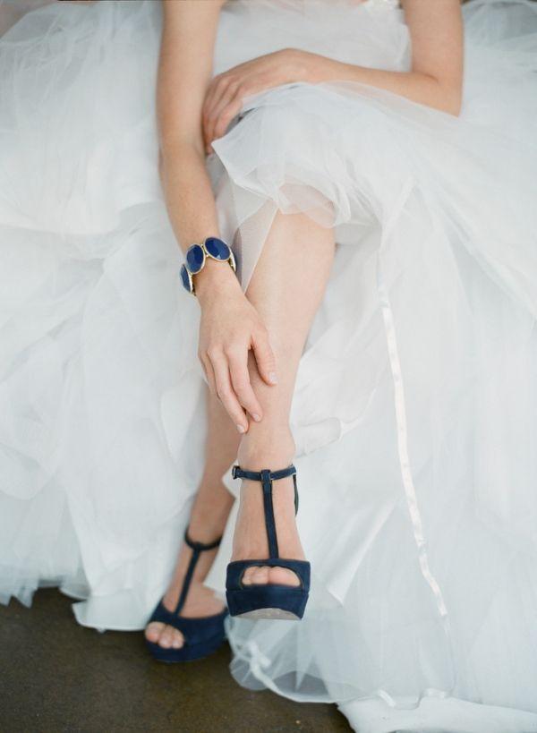 blue t-straps