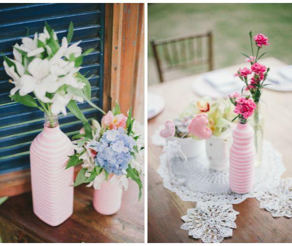 pequenos e simples arranjos de flores para mesa de aniversário de 15 anos - Pesquisa Google