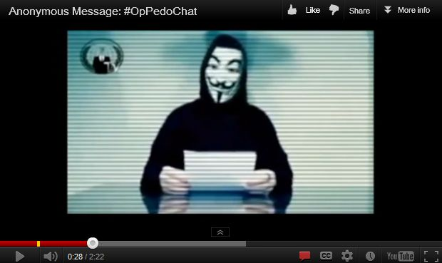#OpPedoChat: Anonymous Attack, Anonymous Hacktivist, Anonymous Oppedochat, Anonymous Threaten, Anonymous Hackers, Hacktivist Anonymous