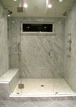 houzz bathrooms | marble slab shower bathroom design ideas