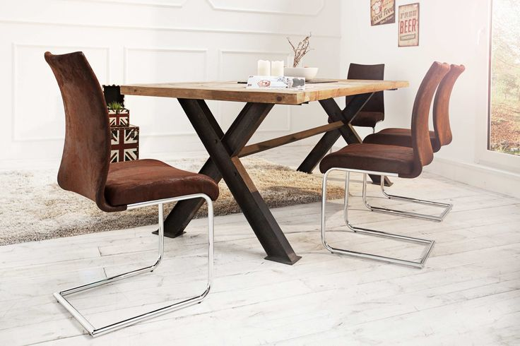 Jedálenské stoličky - moderné : Stolička Bland Vintage hnedá