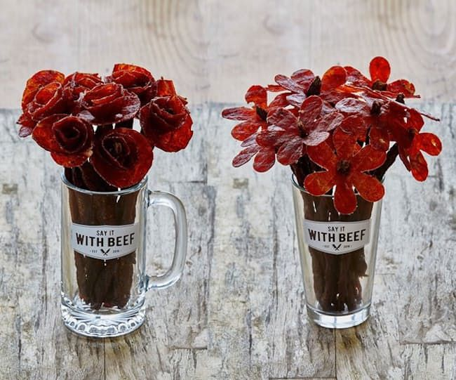 These Beef Jerky Roses Are a Valentine's Day Dream Come True — On Trend