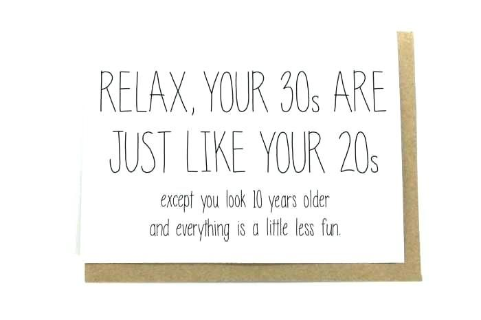 Birthday Quotes For Turning 30 30th Birthday Cards Funny