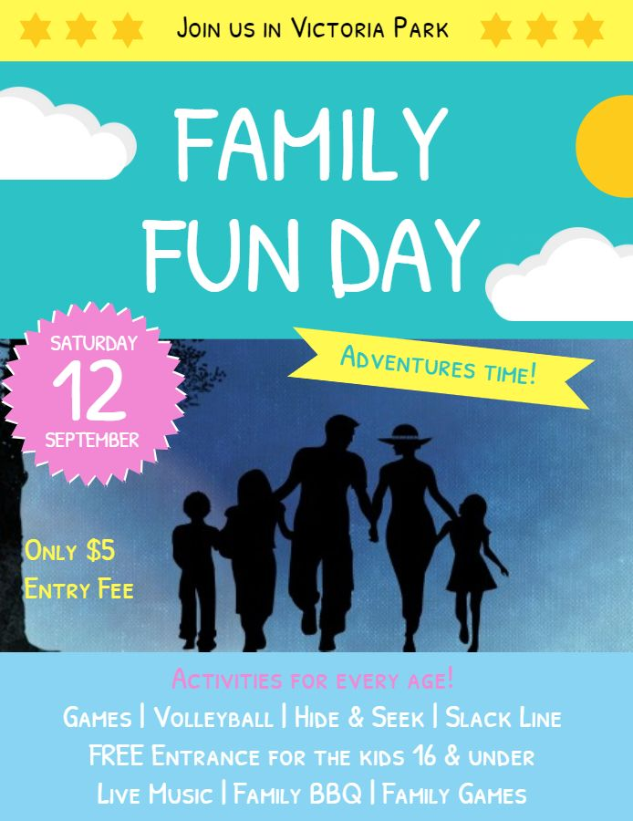 Family Fun Day Event At Park Poster Template Family And Community