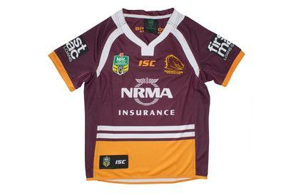 Brisbane Broncos NRL 2017 Kids Home S/S Rugby Shirt  FromLovell Rugby Limited  £50