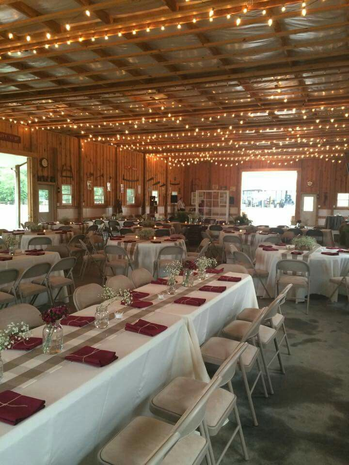A Beautiful Rustic Wedding Reception At The Big Red Barn In Aiken South Carolina South