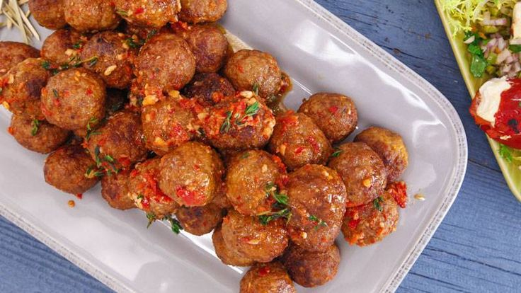 Planning a tapas dinner? Add Curtis Stone's Spanish meatballs to the menu