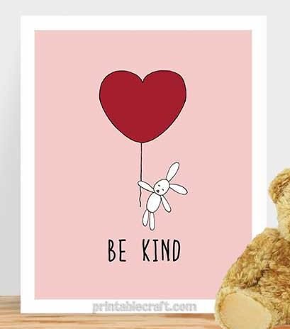 Inspirational Quote Be Kind Typography by PrintableCraft on Etsy
